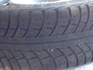4 Gislaved NordFrost 5  205/55R16 snow tires w/original VW rims