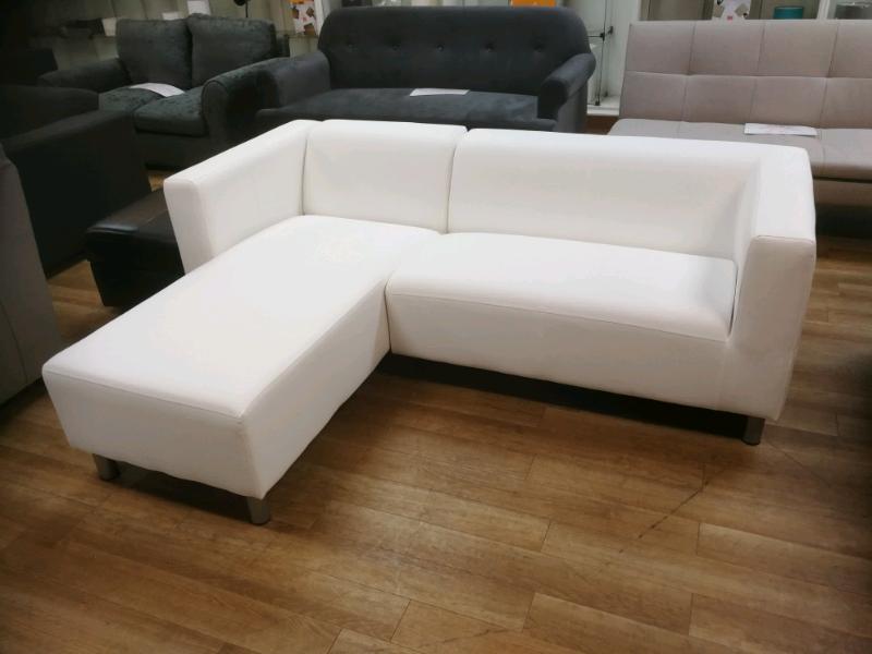 Wondrous White Bonded Leather Corner Sofa In Hamilton South Lanarkshire Gumtree Beatyapartments Chair Design Images Beatyapartmentscom