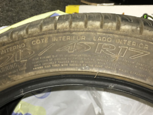 Michelin Primacy HP :   215/45r/17 - - - - LOW km's