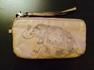 Lucky Brand leather clutch