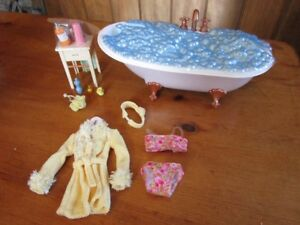 My Scene Doll Furniture  BATHTUB /BATHROOM Set Barbie Mattel