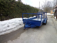 16' x 8' Flat Bed Trailer