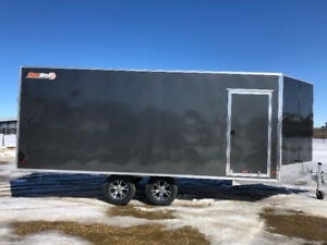 2018 18 Ft Alum Enclosed Snowmobile Atv Utv Cargo Trailer