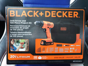 *NEW* Black & Decker Cordless Drill/Driver 100 Piece Set ($200)