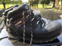 Full leather Timberland 100% genuine black boots walking/hiking unisex size 3/3.5 fabulous