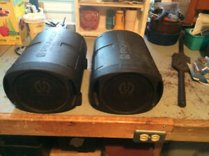 Vintage pair Pioneer TS-WX160 Surface Mount Subwoofers