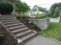 Exposed Aggregate / Concrete Work ~ J. Brown Excavating Ltd.