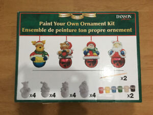 NEW Paint your own ornament kit