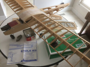 Eagle 63 RC model aircraft with engine and new radio