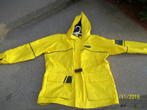 "Wetskins Storm Front Boaters Rainsuit Yellow Mens Size ""Large"""