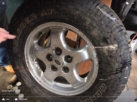 5 X landrover td5 discovery tyres