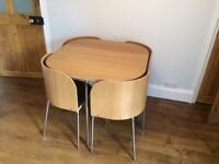 LIKE NEW - Table and chairs - IKEA space saving