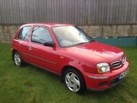 NISSAN MICRA 1.0ltr, MINT CONDITION ,ONE OWNER,MOT 12 MONTHS,ONLY 53,000 MILES,£650!