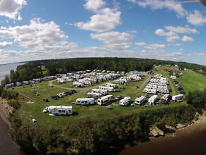 Campground on the banks of the Miramichi