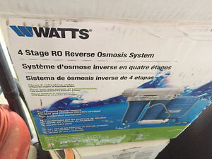 BRAND NEW. NEVER USED - 4 Stage Reverse Osmosis System