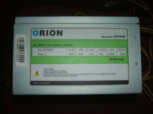 FOR SALE ORION 585 WATT POWER SUPPLY  $20