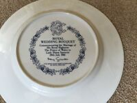 Plate from Diana's wedding