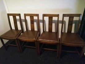 Vintage 1900's Set of 4 Dining Chairs