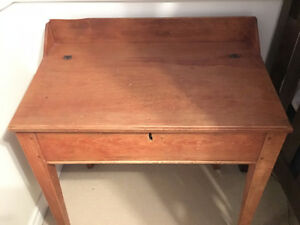 Antique Slant-top School Desk Oakville / Halton Region Toronto (GTA) image 2