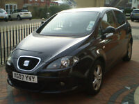 Seat Altea 1.6i Sport 2007 Metallic Black Low Mileage 6 Month Guarantee