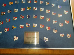1988 Olympic  silver flags of the nations pins