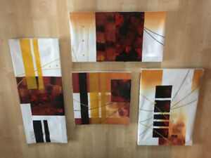 4 Abstract Art paintings