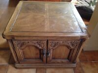 """End Table   27"""" x 27"""" with storage"""