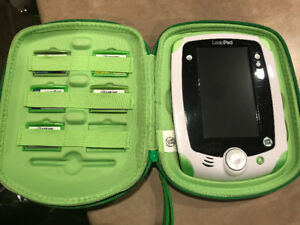 LeapPad in the case with 6 different games/cartridges