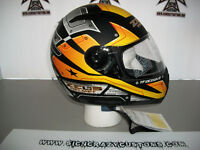 ZEUS Black And Yellow Design, Full Face Helmet, XX-LARGE
