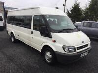 Ford TRANSIT 2.4td T350 17 seater twin axle lwb minibus 2004 04 reg