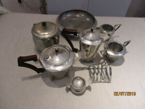 PEWTER Tea and Coffee set  8 peices