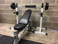 Weight bench,weights.
