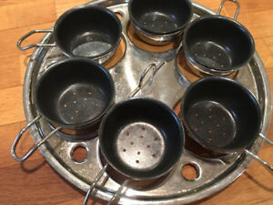New Egg poaching tray with 6 cups