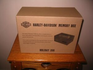 Harley Davidson Memory Box  Holiday 2016  New In Box !