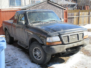 1998 Ford Ranger XLT Pickup Truck 4x4  Project