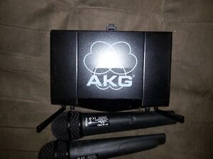 AKG SR40 dual microphones and receiver