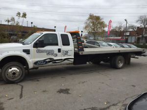 Towing platform Ford 2005 F-450 with wheel left