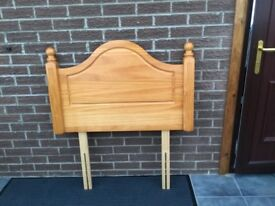 Solid wood headboard for a single bed