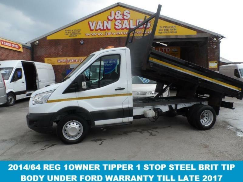 2014 64 FORD TRANSIT 350 MWB T350 ( 125 BHP ) SINGLE CAB TIPPER ONLY LOW MLS AT