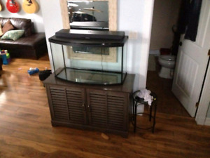 Fluval 45 gallon bow front aquarium and stand
