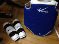 Adult Taekwondo Equipment: chest and arm protection, gloves