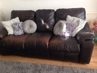 FREE 3 seater leather recliner