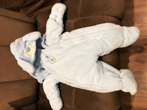 Baby Boy Fleece Snowsuit