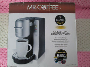 BRAND NEW IN BOX KEURIG MR COFFEE SINGLE CUP BREWER