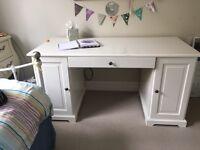 White IKEA Liatorp desk
