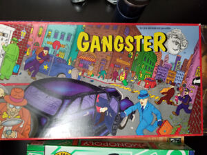 Gangster Board Game (French) + Monopoly (English)