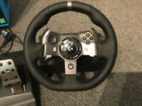 Logitech G920 Force Feedback Steering Wheel With Pedals & Shifter