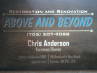 Above & Beyond Restoration and Renovations