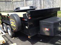 Dump trailer for rent