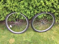 """26"""" set of alloy wheels with very good tyres"""